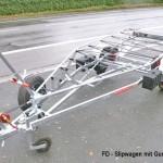 Slipwagen mit Gurtverspannung