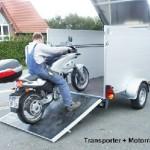 Motorrad-Transporter -und Garage